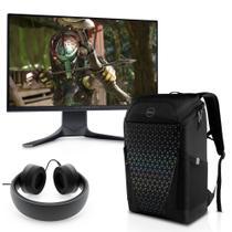 """Kit Monitor Dell Gamer Alienware AW2521HF 240Hz 24,5"""" + Headset Dell Gamer Alienware AW510H + Mochila Dell Gaming 17"""" -"""