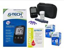 Kit Monitor Glicose Medir Glicemia 100 Tiras 100 Lanc G-tech - G Tech