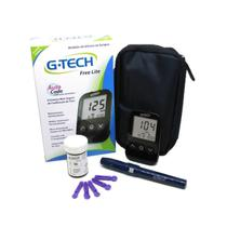 Kit Monitor Glicose Medir Glicemia 100 Tiras 100 Lanc G-tech -