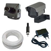Kit Monitoramento 1 Micro Câmera Completo p/ TV - Fácil Instalação - Vtv