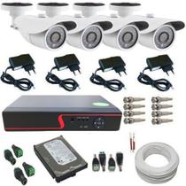Kit Monitoramento 4 Câmeras Digitais AHD Infravermelho DVR 4 Canais - Acesso via Celular - Protec