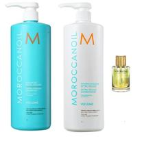 Kit Moroccanoil Extra Volume Shampoo 1 L E Condicionador 1l e Óleo -