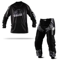 Kit Motocross Trilha Calça E Camisa Pro Tork Insane In Black -
