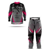 Kit Motocross Trilha Calça E Camisa Pro Tork Insane X -