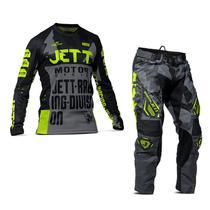 Kit Motocross Trilha Calça e Camisa Pro Tork Jett Factory Edition 3 Amarelo Camisa P - Calça 38 -
