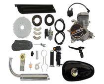 Kit Motor 80cc Completo Bicimoto  P/ Bicicleta Motorizada - prata -