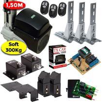 Kit Motor Portão Basculante 1/5 Hp Soft 1,50 m Tx Car 2 Travas 3 Suportes 3 Controles - Rcg