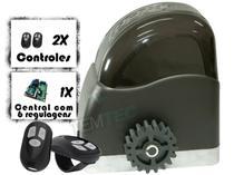 KIT MOTOR PORTÃO DESLIZANTE RCG AL 700Kg 1/2CV 127V ou 220V + 2 CONTROLES SEM CREMALHEIRAS -