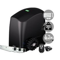 Kit Motor Portão Eletrônico Deslizante Rcg Slider-PL Slim 4,2m Cremalheira -