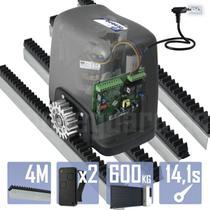 Kit Motor Rossi 1/4CV Dz Nano Turbo 4m Crem 2 Control Portão Eletrônico Deslizante 600kg -