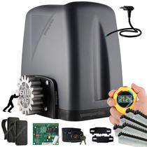 Kit Motor Rossi 1/4CV Dz Nano Turbo 6m Crem 2 Control Portão Eletrônico Deslizante 600kg -
