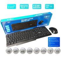 Kit mouse e teclado com fio usb inova modelo chocolate (cor preto) -
