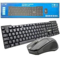 Kit mouse e teclado sem fio 2.4g chocolate inova key-8388 -