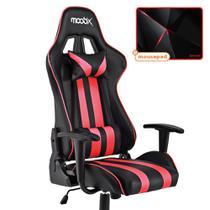 Kit Mousepad Redragon + Cadeira Gamer Nitro MOOBX Preto e Vermelho -