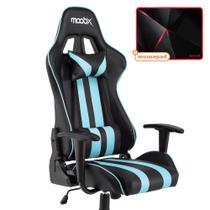 Kit Mousepad Redragon + Cadeira Nitro MOOBX Preto e Azul -