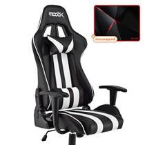 Kit Mousepad Redragon + Cadeira Nitro MOOBX Preto e Branco -