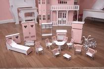 Kit Móveis Em MDF Princesa 18 Peças Escala Barbie - Darama -