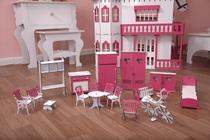 Kit Móveis Em MDF Sonhos 18 Peças Escala Barbie - Darama -
