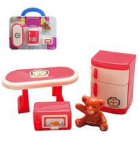 Kit Moveis Infantil Com Geladeira E Acessorios My Sweet Home 4 Pecas Na Cartela - Ark Brasil