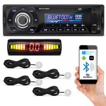 Kit MP3 Player Automotivo Multilaser Talk P3214 Bluetooth USB SD + Sensor de Estacionamento Branco - Prime