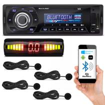 Kit MP3 Player Automotivo Multilaser Talk P3214 Bluetooth USB SD + Sensor de Estacionamento Preto - Prime