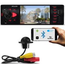 Kit MP5 Player Automotivo Shutt Los Angeles 4 Pol Bluetooth USB MP3 MP4 + Câmera Ré Colorida Preta