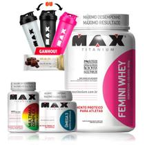 Kit Mulher Whey + Omega 3 90 cáps + Multimax Complex 90 cáps - Max tianium