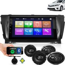 Kit Multimidia Mp5 Corolla 2014 2015 2016 + Moldura Camera Ré Pares Falantes 6