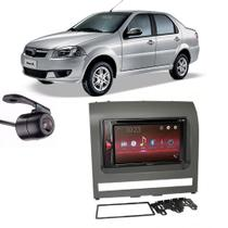 Kit Multimídia Pioneer Avh-G228BT + 2 Din + Câmera Siena 2012 -