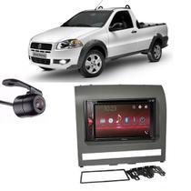 Kit Multimídia Pioneer Avh-G228BT + 2 Din + Câmera Strada 2012 -