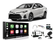 Kit Multimídia Pioneer AVH-Z9180TV + Mold 2 din + Cam de ré + Chicote + Interface New Corolla 2018