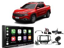 Kit Multimidia Pioneer AVH-Z9180TV Mold 2din + Cam de Ré + Chicotes + Interface para Fiat Toro 2018