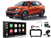 Kit Multimídia Pioneer AVH-Z9180TV + Mold 2din + Câmera de ré + Chicote + Interface Honda HRV 15/18