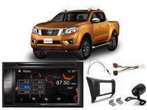 Kit Multimídia Positron SP8530BT + Cam de ré + Mol 2din + Chicotes  Nissan Frontier 2017/2018/2019 -