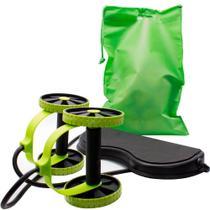 Kit Musculação Academia Em Casa Revoflex Elastico Roda Abdominal Extensor Emagracedor - Revoflex xtreme