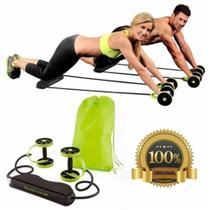 Kit Musculação Fitness Completo Academia Em Casa Revoflex Elastico Roda Abdominal Extensor Para Braç - Grouper