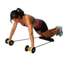Kit Musculação Fitness Elástico Roda Extensor para Abdominal Braços e Pernas - Revoflex