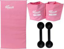 kit musculacao halter peso para braços halteres 2 kg tornozeleira peso caneleira de peso 2 kg colchonete de academia - Deveras
