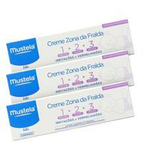 Kit Mustela Bébé Creme Vitaminado Preventivo 123 (3 Produtos) -