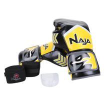 Kit Naja Luva de Boxe / Muay Thai Naja New Extreme 14 Oz + Bandagem + Protetor Bucal -