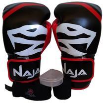 Kit Naja Muay Thai Boxe Luva 14 Oz + Bandagens + Bucal -