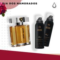 Kit Namorados Masculino (1 Perfume Lamborghini + 2 Desodorantes Saver Royal 150 ml) -