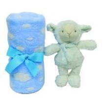 Kit Naninha Manta Azul e Ovelhinha Dos Sonhos - Buba -