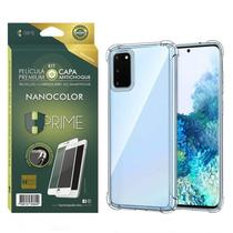 Kit Nanocolor HPrime Película Nanoshield Preto + Capa para Samsung Galaxy S10 Lite 6.7 -