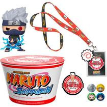 Kit Naruto Shippuden Kakashi & Noodles Exclusive Collector Box Pop Funko -