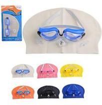 Kit Natacao com Oculos Touca Protetor de Ouvido e Nasal Summer Fun Wellmix -