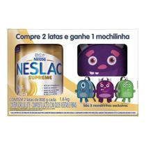 Kit Neslac Supreme Composto Lácteo 2 Latas 800g cada e Ganhe Mochilinha Modelo Sortido -
