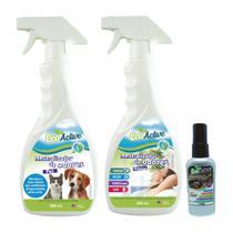 Kit Neutralizador de Odores EcoActive - 1 Home 500ml, 1 Pet 500ml e 1 Car 60ml -