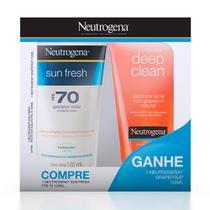 Kit Neutrogena Protetor Solar Sun Fresh FPS 70 120ml Ganhe Sabonete Facial Grapefruit 150ml -