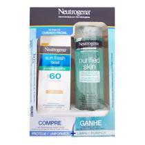 Kit Neutrogena Sun Fresh Control Brilho Cor FPS60+Purified Skin -